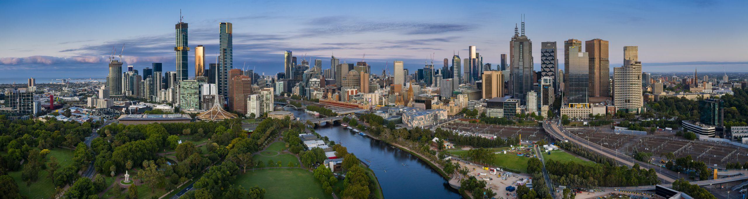 Melbourne Skyline at dawn taken on 02 Feb 2020